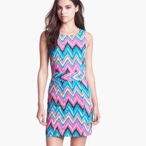"""Lilly Sz 6 """"Hearts a Flutter"""" Chevron Dress"""